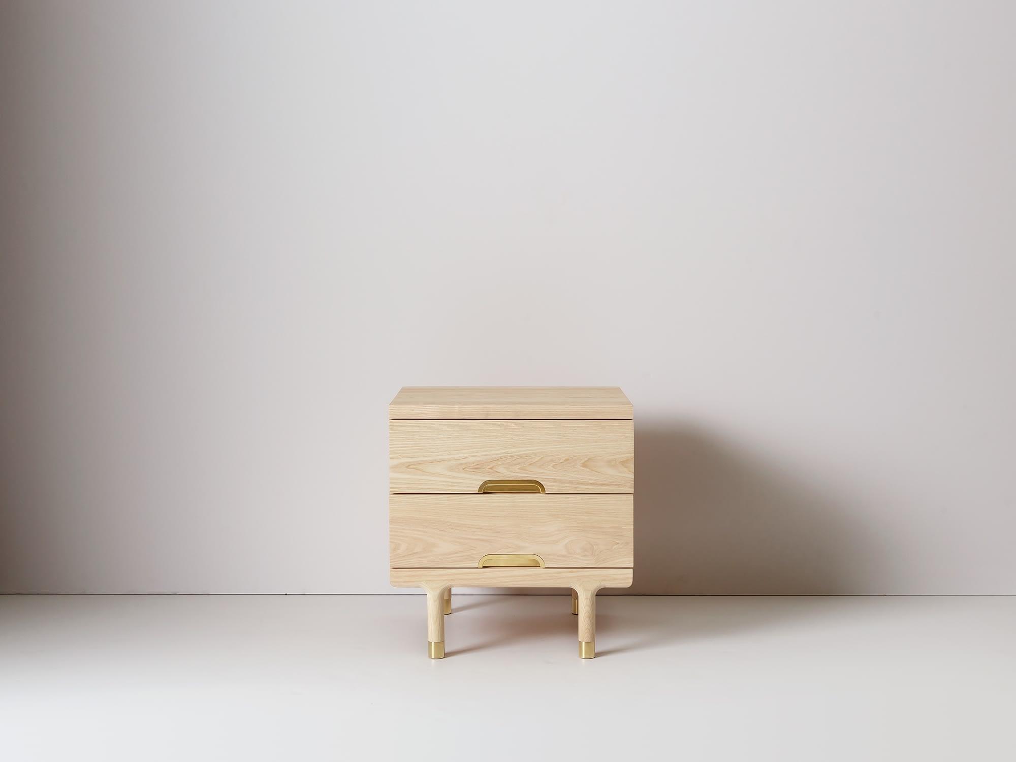 Modern Solid Wood Simple Side Table Nightstand