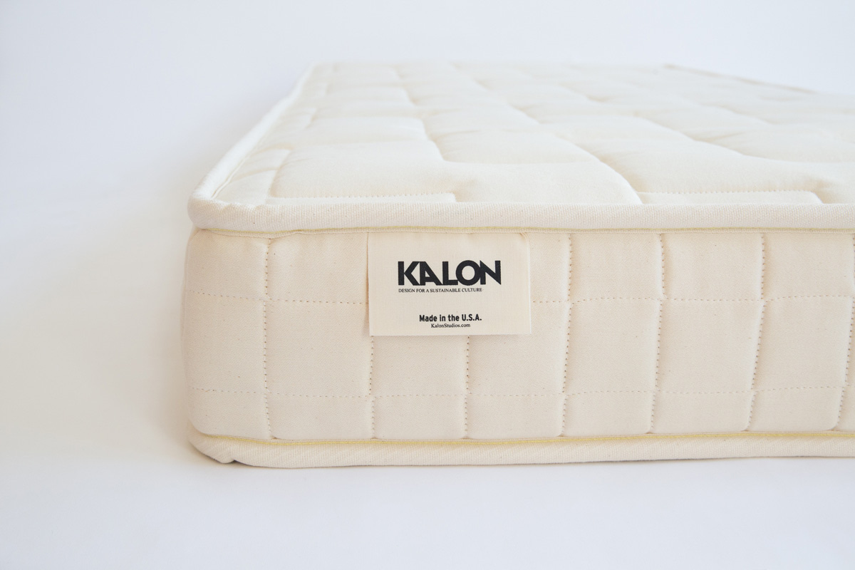 Organic cotton and latex crib mattress