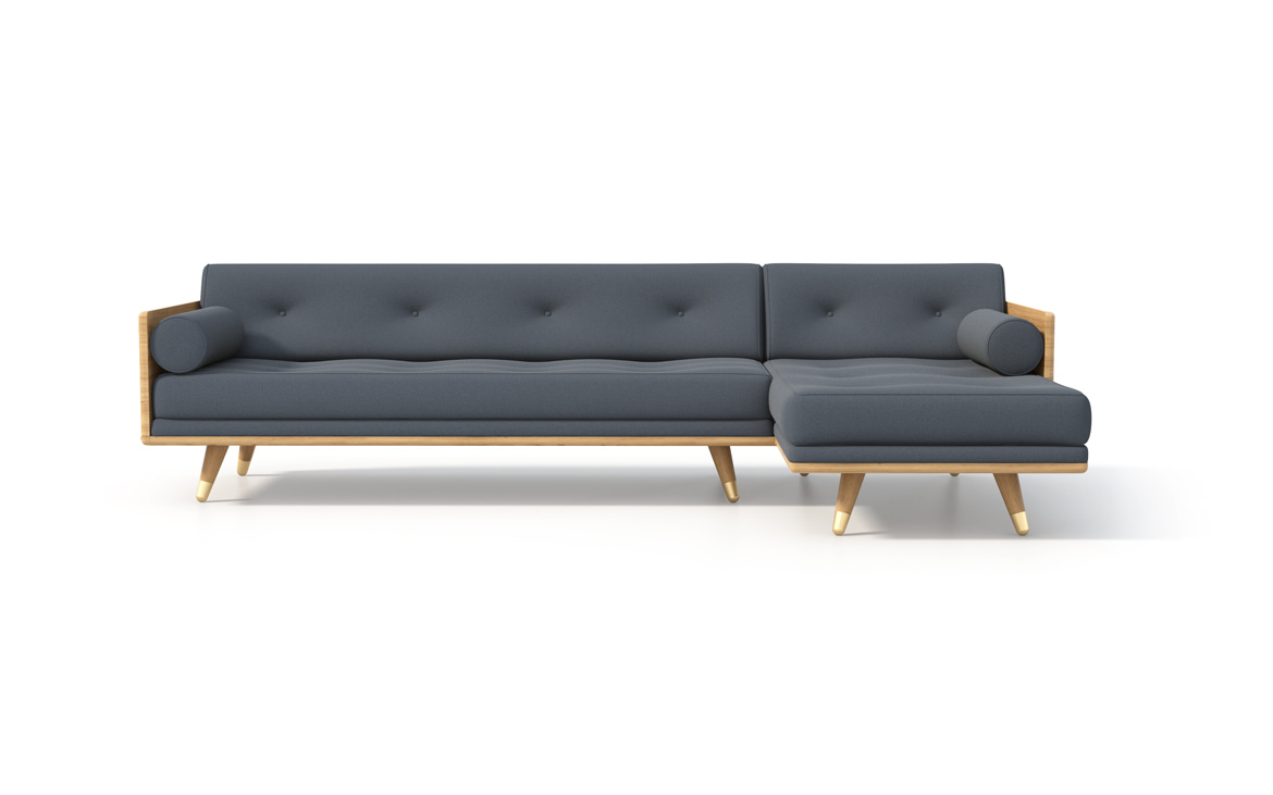 No.5 Series Sectional in Indigo