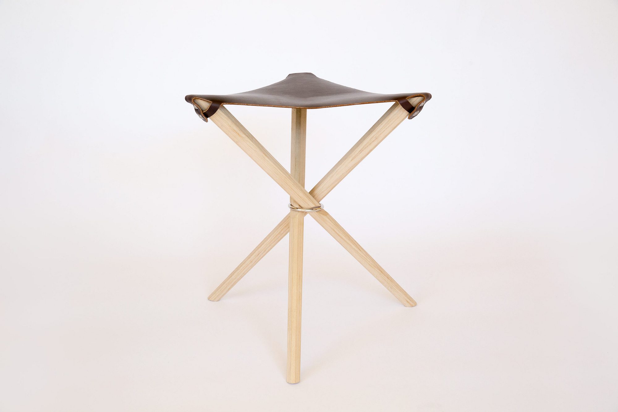 Coyote Stool in Dark Brown Latigo