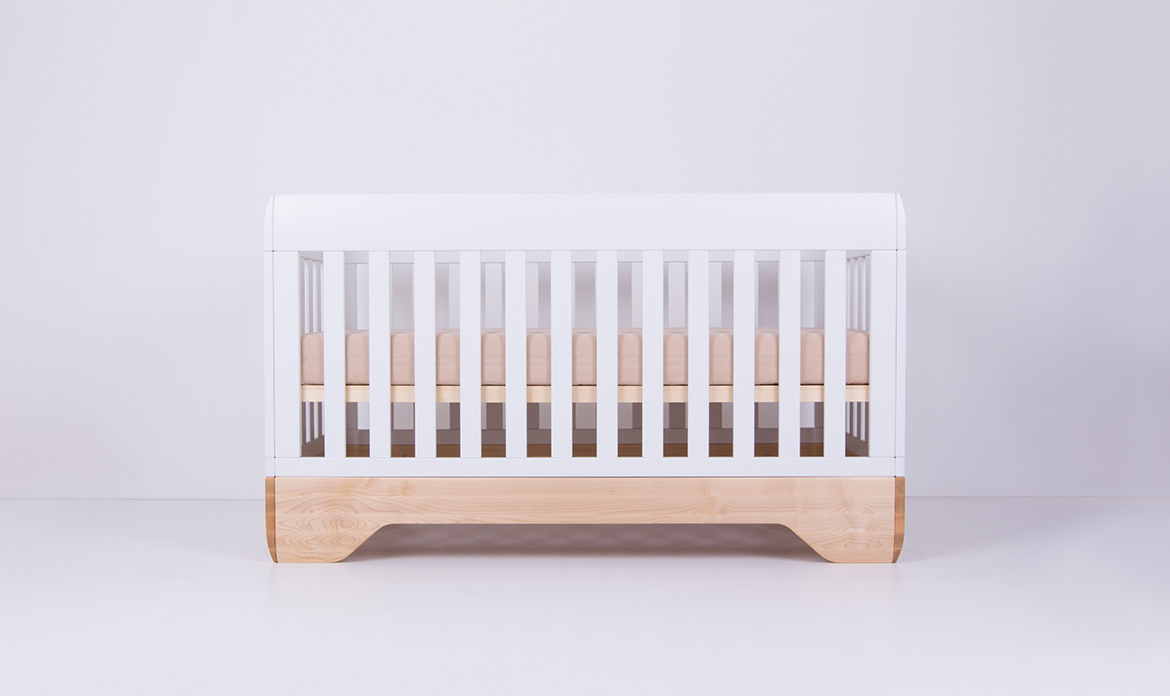Echo Crib White Mattress Support High Position